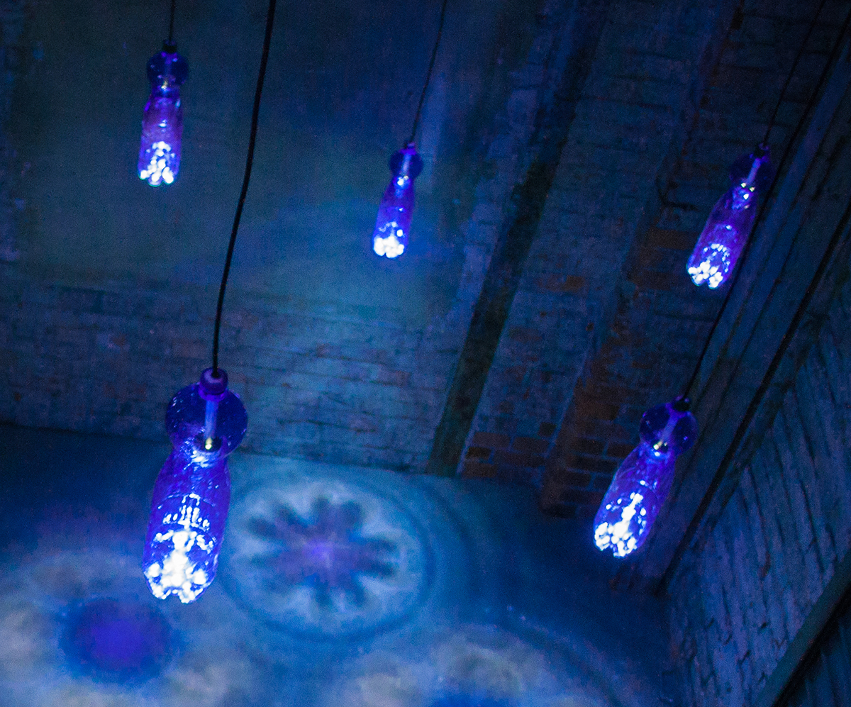LED-lamps made of plastic bottles