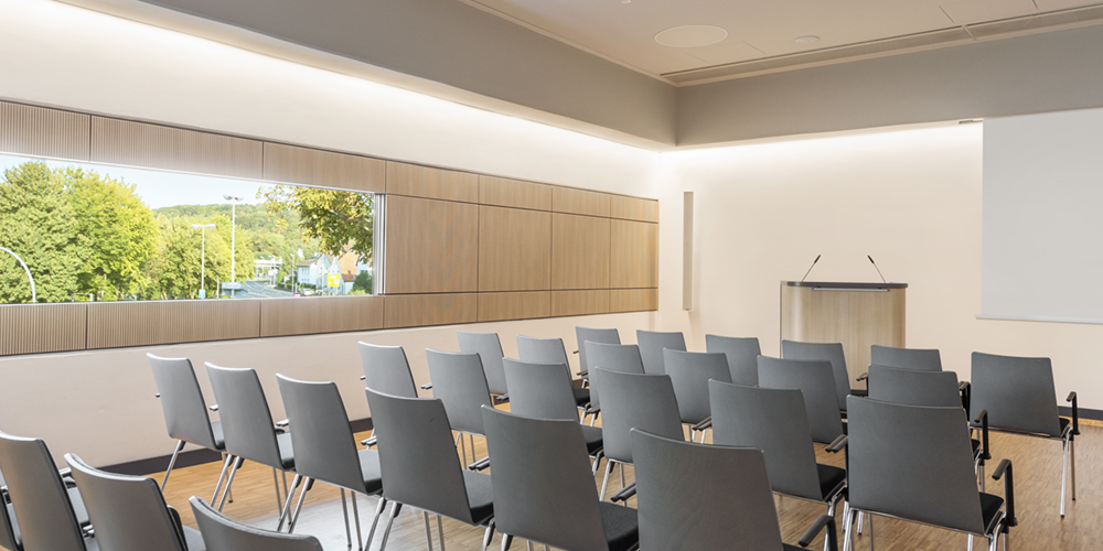 Indirect light in seminar room