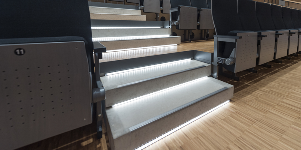 Safety lighting in stairs